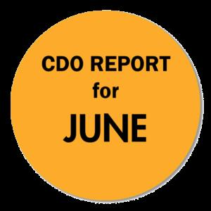 CDO REPORT JUNE